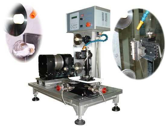 采用步进电机驱动自动进刀,切割速度根据不同的材料无限可调,可以