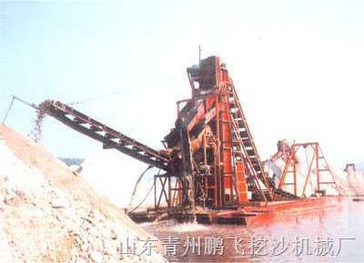 淘金船、挖沙机械、铁沙提取、河道清淤设备